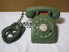 Vintage Bell System Western Electric Rotary Dial Green Desk Phone Telephone