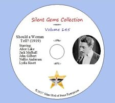 "DVD ""Should a Woman Tell?""(1919) Jack Mulhall,John Gilbert, Classic Silent Drama"