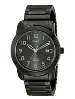 Timex Men's T2P135 Highland Street Gray Stainless Steel Expansion Band Watch NEW