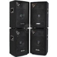 """4x Skytec 6"""" Inch PA Party Speakers Disco DJ Sound Setup 1200W UK Stock"""