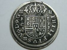 1718 CUENCA 1 REAL PHILIP V SPANISH COLONIAL SILVER COIN