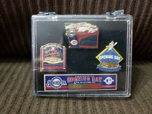 Milwaukee Braves Brewers Miller Park County Stadium Opening Day Pin Set 3 LE