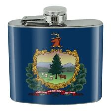 New listing Vermont State Flag Stainless Steel 5oz Hip Drink Kidney Flask