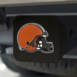 Cleveland Browns Hitch Cover Color Emblem on Black [NEW] NFL Truck Cap Trailer