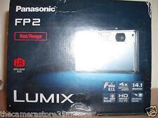 Nueva En Caja Panasonic FP2 14.1 MP Digital Cámara ~ Mega OIS ~ película HD para PC Rojo
