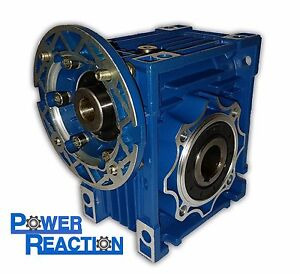 Worm right angle gearbox / speed reducer / size 75 / ratio 15:1 / 90B14