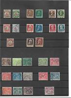 Bayern, Dienstmarken, komplette Sätze ex Michelnrn.: aus 1 - 61 o, gestempelt o