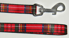 Ancol Nylon Tartan Lead Red 100cm