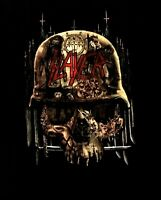 SLAYER cd cvrs SKULL COLLAGE Official SHIRT LRG New hell awaits reign in blood