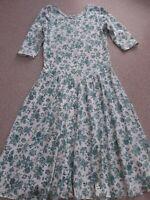 Vintage Laura Ashley Cotton Tea Dress  UK 14 (EU 40 US 12)