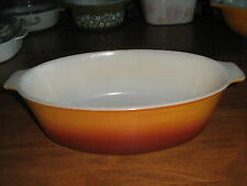 PYREX CROWN AUSTRALIA.. LARGE OVAL CASSEROLE PRE-LOVED COND.