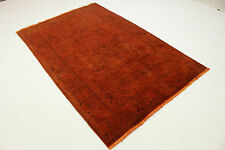 Orient Tapis Vintage moderne orange rouille Used Look 280x170 noué à la main