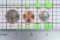 100x 500x 1000x 4 5 6 8 10mm Green Round Glow In Dark Fishing Beads Count Lot US