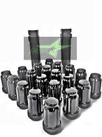 20 Black Spline Tuner Lug Nuts 12X1.25 | FITS Subaru STI BRZ 350z 370z G37 Q50