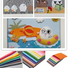 41X Colorful 15X15cm Nonwoven Felt Fabric Sheets Kids Patchwork Hand Craft New