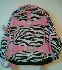 Pottery Barn Kids Small Mackenzie Pink Brown Zebra Backpack name SKYLAR New!