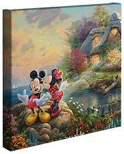Thomas Kinkade Mickey and Minnie Sweetheart Cove 14 x 14 Gallery Wrapped Canvas