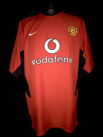 Manchester United 2002-04 Home Vintage Football Shirt - Fair Condition