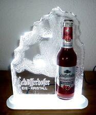 Schöfferhofer Weizen Bier Eis Kristall LED Leuchtreklame Aufsteller Bar Party
