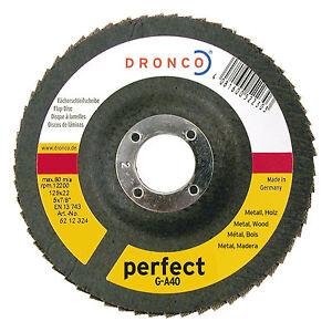 1 Stück Fächerschleifscheibe DRONCO perfect 120 Ø115x22,23mm
