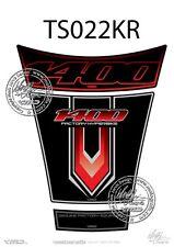 SUZUKI GSX 1400 réservoir Pad noir / rouge (ts022kr)