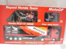 NICKY HAYDEN REPSOLTEAM 2 BIKES SEMI TRAILER HAULER SET