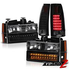 88-93 Chevy C/K Truck Sinister Black Tail Brake Lights Headlights Signal Parking