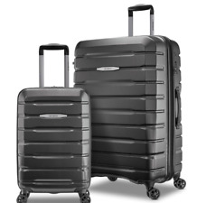 Samsonite Tech Two 2 Piece Spinner Suitcase Set, Charcoal Grey *Cabin - Large*
