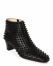 6f0d1ca46a9b 100% AUTHENTIC NEW WOMEN LOUBOUTIN BLACK SPIKE AIOLI ANKLE BOOTY BOOTS US 9
