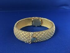 14k Gold Covered Watch Bracelet 53grams Basket Weave Style #219 Buy It Now Price