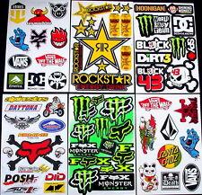 6 stickers decal Rockstar etc Energy Motocross drink MX moped quad BMX Bike sCA