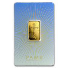 10 g Gold Bar - PAMP Suisse Religious Series (Romanesque Cross) - SKU #94441