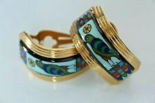Michaela Frey Creole Enamel Hoop Earrings, Egypt Collection