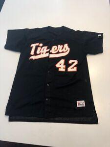 Game Worn Used Princeton Tigers Baseball Jersey Size 44 #42