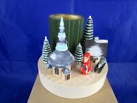 Miniatur Tischleuchter Winterdorf Weihnachtsmann Seiffen Erzgebirge W.Braun OVP
