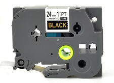 Label maker Tape Gold on Black TZ-354 TZe-354 P-Touch Compatible Brother 24mm