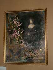 unique framed WALL ART ORIGINAL ARTIST SIGNED MIXED MEDIA OIL PAINT & DECOUPAGE