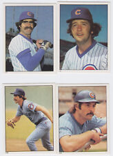 1981 Topps Stickers - Chicago Cubs Team Set - 10 Stickers - Sutter - Mint