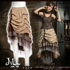 SteamPunk revolution victorian Map designer tiered ruffle layered skirt SP169