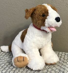 Build a Bear JACK RUSSELL TERRIER Brown White Puppy Dog Plush Animal - EUC!