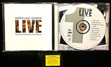 Motley Crue: Live Entertainment Or Death OOP 2X CD W/Hype Sticker Motley Records