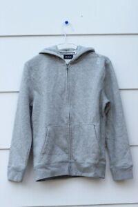 The Children's Place Gray Unisex Sweatshirt Hoodie Front Full Zip Size 10/12