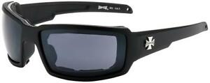 New 2021 Style Choppers Riding Padded Motorcycle Glasses black