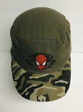 Marvel Spider-Man Green Camo Hat Cap Youth Size Adjustable Strap New #14750