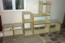 BIBLIOTHEQUE modulable design JACQUES DUMOND  MODULABLE vintage 60's ( Matégot )