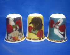 Birchcroft Thimbles -- Set of Three -- Knitting Wool Advertising Posters