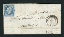 Belle lettre de Valleraugue ( Gard 1858 ) pour Anduze - Cachet PC 3477
