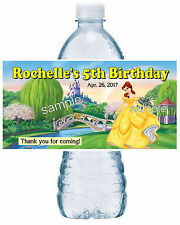 20 BELLE BEAUTY AND THE BEAST BIRTHDAY PARTY FAVORS WATER BOTTLE LABELS
