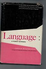 Joshua Whatmough - Language a modern Synthesis - 1956