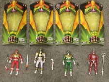 MIGHTY MORPHIN POWER RANGERS WHITE GREEN RED RANGER AND LORD ZEDD TOYS R US EXCL